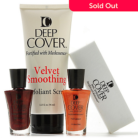 304-450 - Deep Cover Four-Piece Nail Lacquer & Foot Scrub Collection