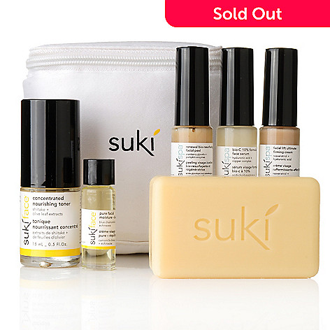 304-469 - suki® Six-Piece Anti-Aging Clinical Regimen w/ Cosmetic Bag
