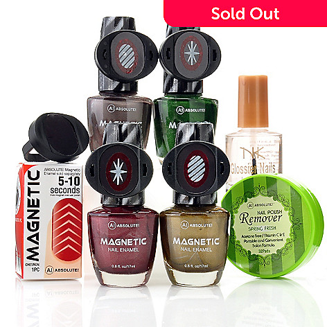 304-689 - ABSOLUTE! Seven-Piece Magnetic Nail Enamel Sampler