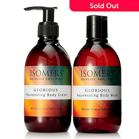 304-720 - ISOMERS Skincare Glorious Body Wash & Body Cream Duo 8.12 oz each