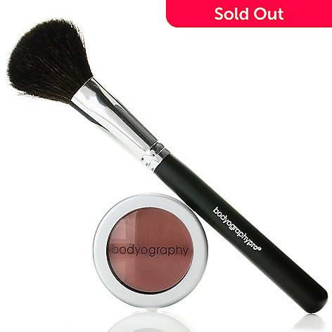 304-735 - Bodyography La Rose Crème Blush w/ Brush 0.12oz