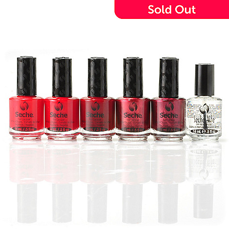 304-909 - Seche® Classic Reds & Fast Dry Top Coat Six-Piece Set