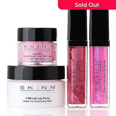 305-081 - Skinn Cosmetics Four-Piece ''Plump Lips & Bright Smiles'' Collection