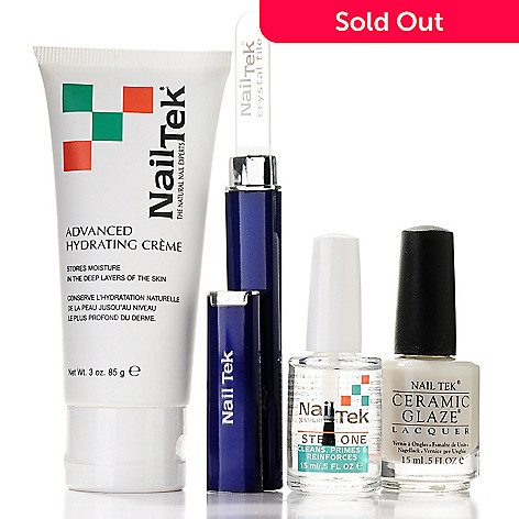 305-099 - Nail Tek Renew & Brighten Three-Piece Kit w/ Crystal File & Bonus Hand Cream