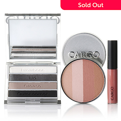 305-129 - CARGO Cosmetics Three-Piece Smoky Eye Shadow, Blush & Lip Gloss Hero Collection