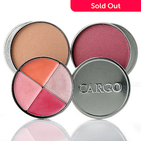 305-131 - CARGO Cosmetics Three-Piece Blush, Bronzer and Lip Gloss Quad Tin Collection