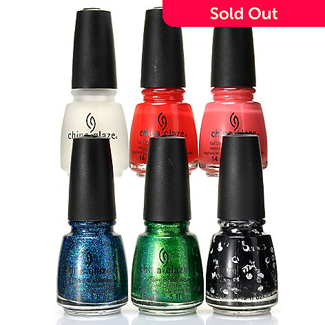 305-149 - China Glaze® Six-Piece Nail Set Inspired by ''Cirque Du Soleil World's Away''