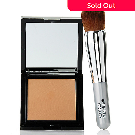 305-154 - CARGO Cosmetics blu_ray™ Pressed Powder w/ ''All-in-One'' Magic Brush