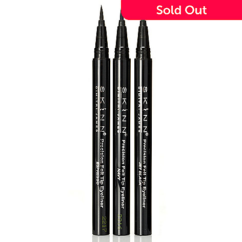 305-185 - Skinn Cosmetics Set of Three Precision Felt Tip Eyeliners