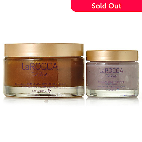 305-230 - LaROCCA Cellular Gold Revitalizing Sugar Polish & Hydrating Body Balm Duo
