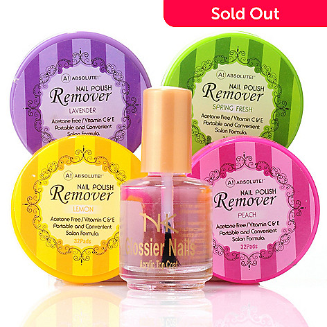 305-279 - ABSOLUTE! Top Coat & Four-Pack of Nail Polish Removers
