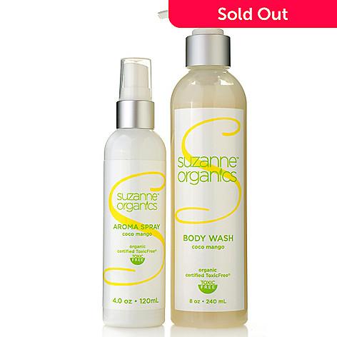 305-317 - Suzanne Somers Organics Coco Mango Body Wash & Aroma Spray Duo