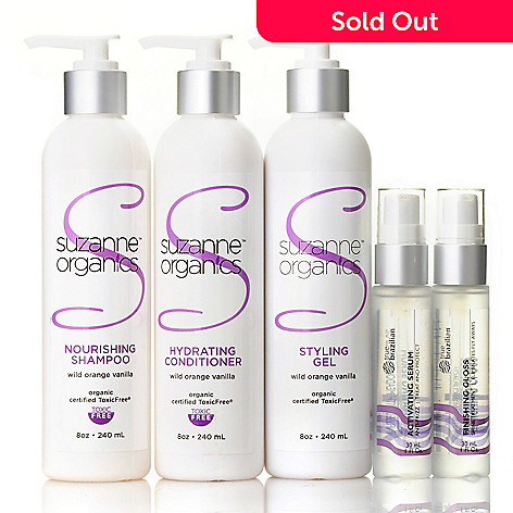305-321 - Suzanne Somers Organics Five-Piece Haircare Set
