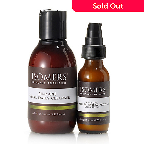 305-334 - ISOMERS Skincare Two-Piece Total Daily Cleanser & Hydra- Protect Dream Cream Skincare Kit