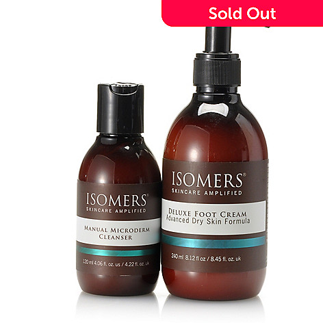 305-336 - ISOMERS Skincare Manual Microderm Cleanser & Deluxe Foot Cream Duo