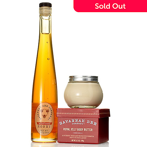 305-338 - Savannah Bee Company® Wildflower Honey Flute & Royal Jelly Body Butter Duo