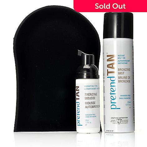 305-389 - pretendTAN™ Instant Self Tan Bronzing Mist w/ Mini Bronzing Mousse & Mitt