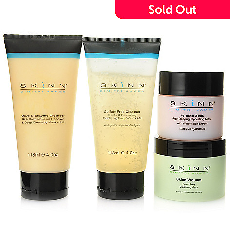 305-403 - Skinn Cosmetics Four-Piece Cleanser & Facial Mask Skincare Kit