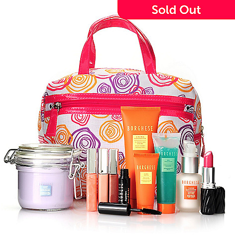305-535 - Borghese Ten-Piece Summer Beauty Blockbuster Kit w/ Cosmetic Bag