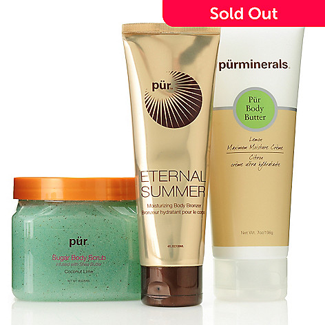 305-585 - Pür Minerals Three-Piece ''Sun-Kissed'' Bronze & Scrub Collection
