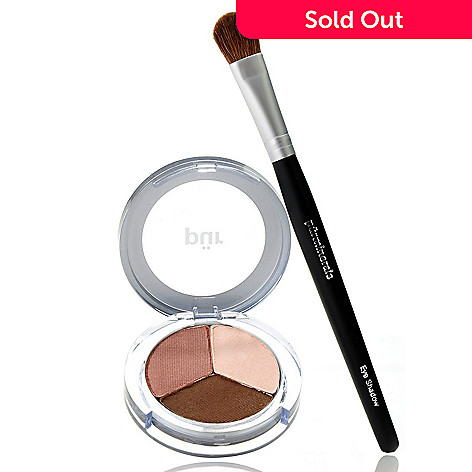 305-595 - Pür Minerals Two-Piece ''Little Miss Perfect'' Shadow Trio w/ Shadow Brush