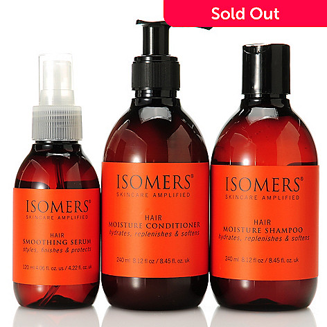 305-605 - ISOMERS Skincare Three-Piece Moisture Shampoo, Conditioner & Smoothing Serum Set