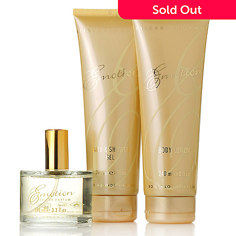 305-648 - Elizabeth Grant Three-Piece Emotion Fragrance Parfum, Lotion & Gel Collection