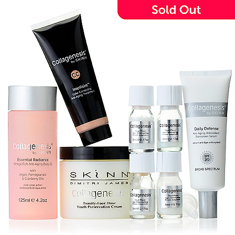305-662 - Skinn Cosmetics Eight-Piece Complete Collagenesis Anti-Aging Skincare System