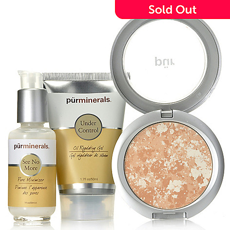 305-715 - Pür Minerals Three-Piece Pore Minimizer, Oil Control Gel & Balancing Act Kit