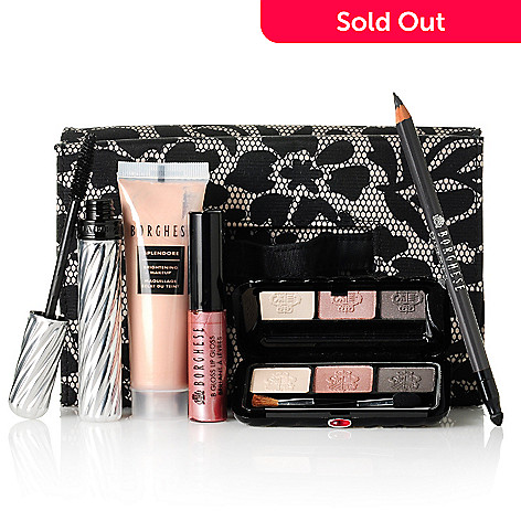 305-756 - Borghese Six-Piece ''Pampered Princess'' Makeup Collection w/ Case