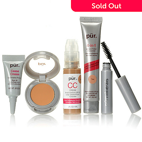 305-766 - Pür Minerals Four-Piece Complexion ''Try Me'' Kit & Impact+ Mascara