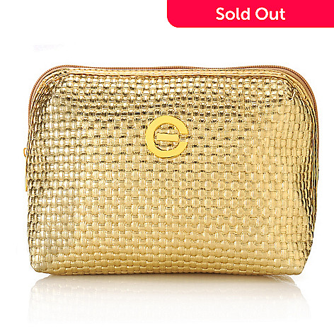 305-805 - Elizabeth Grant Gold-tone Quilted Cosmetic Bag