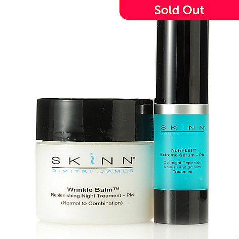 305-983 - Skinn Cosmetics Wrinkle Balm Night Treatment & Nutri-Lift Extreme Serum PM Duo