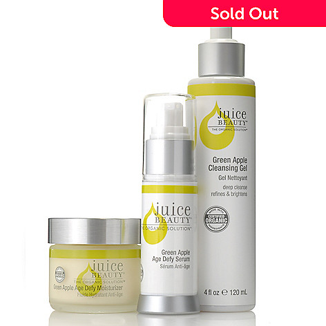 305-984 - Juice Beauty Three-Piece Green Apple Age Defy Serum, Gel Cleanser & Moisturizer Kit