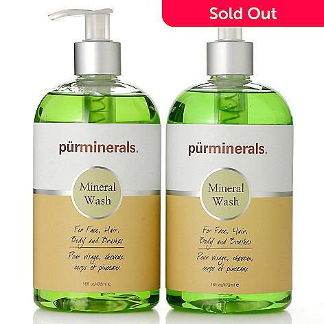 306-011 - Pür Minerals Multi-Purpose Mineral Wash Duo 16oz Each
