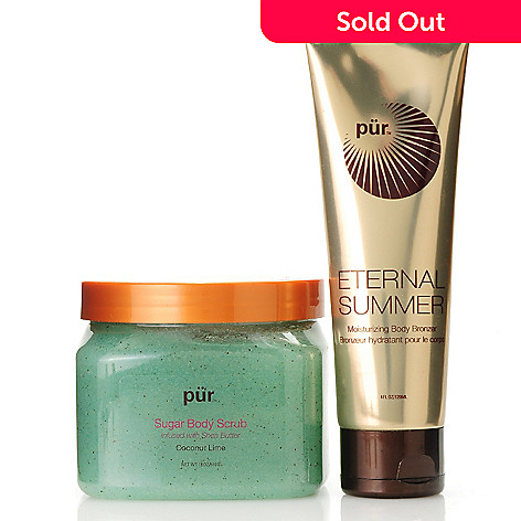 306-015 - Pür Minerals Two-Piece Coconut Lime Body Scrub & Moisturizing Body Bronzer Kit