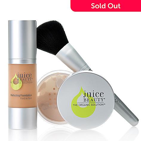 306-142 - Juice Beauty Perfection Foundation & Finishing Powder Duo w/ Buki Brush