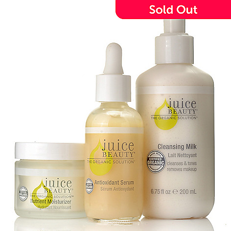306-150 - Juice Beauty Three-Piece Cleansing Milk, Antioxidant Serum & Moisturizer Kit