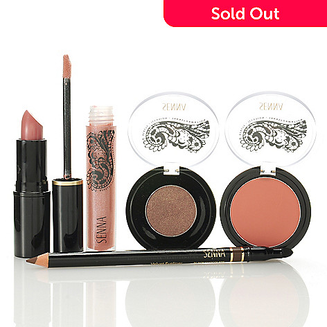 306-192 - SENNA Five-Piece Blush, Eyeliner, Eye Color, Cream Lipstick & Lip Lacquer Collection