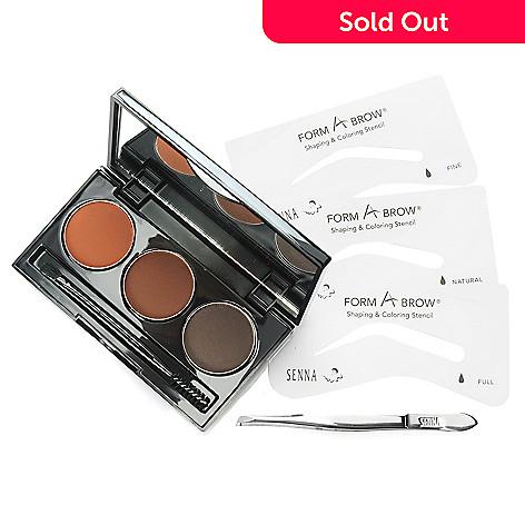 306-202 - SENNA Form-A-Brow® Palette & Eyebrow Stencil Kit w/ Micro Brow Tweezers
