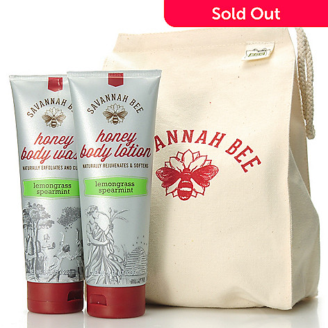 306-249 - Savannah Bee Company Honey Body Wash & Honey Body Lotion Duo w/ Reusable Lunch Bag