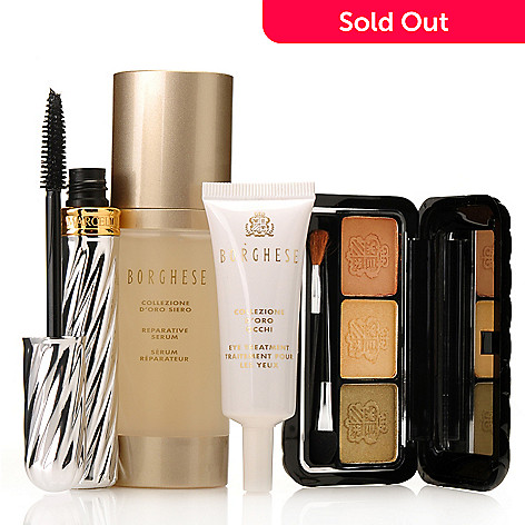 306-412 - Borghese Four-Piece ''Golden Beauty'' Color & Skincare Set