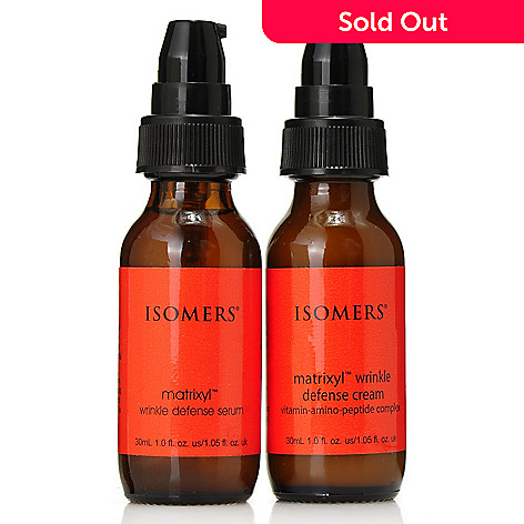 306-459 - ISOMERS Skincare Wrinkle Defense Serum & Cream Duo for Collagen Support