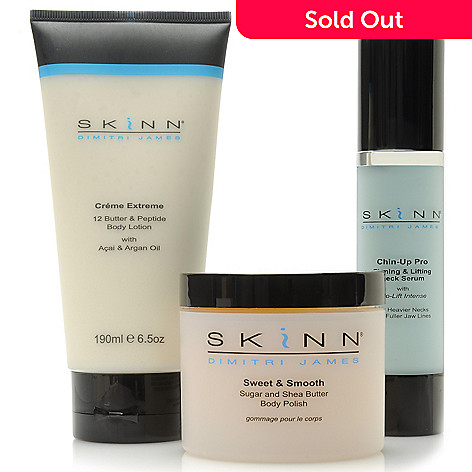 306-497 - Skinn Cosmetics Three-Piece Body Polish, Body Lotion & Chin-Up Pro Collection