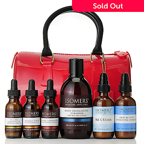 306-548 - ISOMERS® Six-Piece Daily Essentials Kit w/ Bonus Classic Holiday Satchel