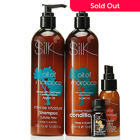 306-570 - Silk™ Oil of Morocco® Argan Oil Infused Moisture Haircare Trio w/ Bonus Hair & Skin Serum
