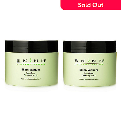306-668 - Skinn Cosmetics Vacuum Deep Pore Cleansing Mask Duo 2 oz Each