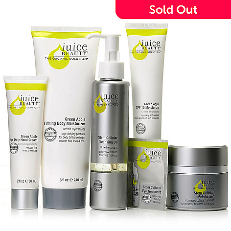 306-860 - Juice Beauty Five-Piece Anti-Aging Stem Cellular & Green Apple Skincare Set for Face & Body