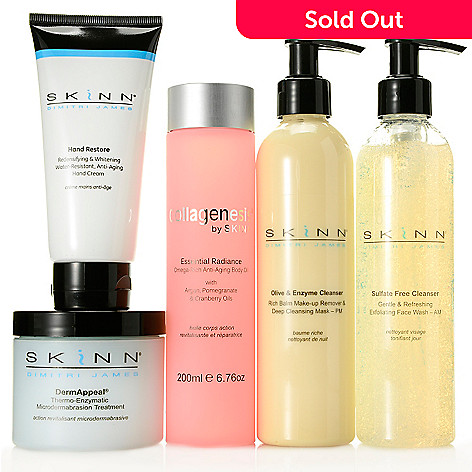 307-276 - Skinn Cosmetics Five-Piece Bonus Size Customer Favorites Skincare Set