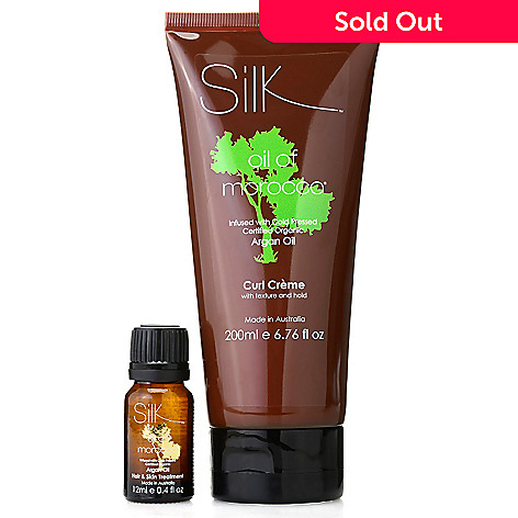 307-372 - Silk™ Oil of Morocco® Argan Oil Infused Curl Defining Creme w/ Bonus Hair & Skin Serum